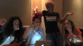 @crystaltamar and Sophia Fresh in the Studio with @Kandi and @BlacElvis